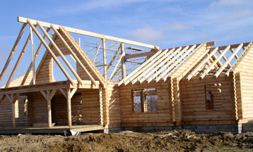 Full Round Rafters And Beams Log Home Builing Material