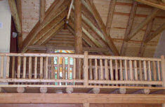 Rustic Round Railing Log Home Builing Material