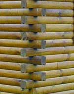 top quality round, d-Log, square logs tongue & groove, railing for discounted prices